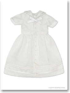 PNXS Ribbon Sailor One-piece (White) (Fashion Doll)