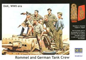 DAK アフリカ軍団ロンメル将軍&司令部将校・戦車上 (プラモデル)