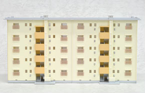 Public Corporation Built Apartment (Public Corporation`s Era, About 1965) (1pc.) (Completed) (Model Train)