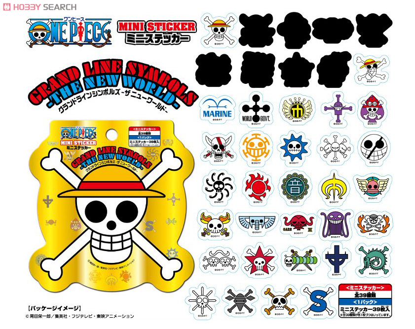One Piece Mini Sticker Grand Line Symbols The New World Anime Toy Item Picture1