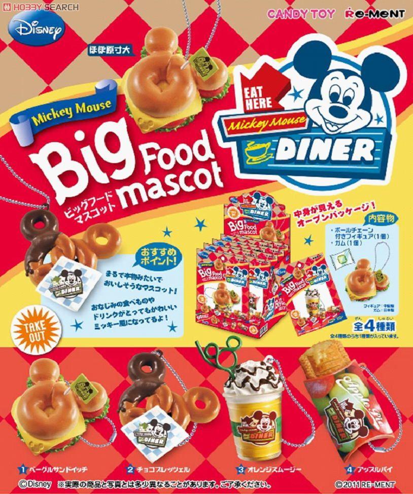 ディズニーキャラクター ミッキーマウス ビッグフードマスコット 8個セット (食玩)