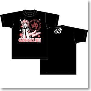 ゆるゆり Tシャツ あかり柄 黒 XL (キャラクターグッズ)