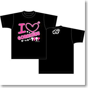 ゆるゆり Tシャツ アイラブ柄 黒 XL (キャラクターグッズ)