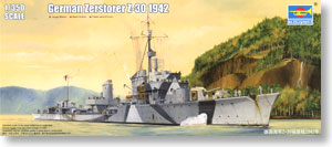 German Navy Z Class Destroyer `Z-30 1942`(Plastic model)