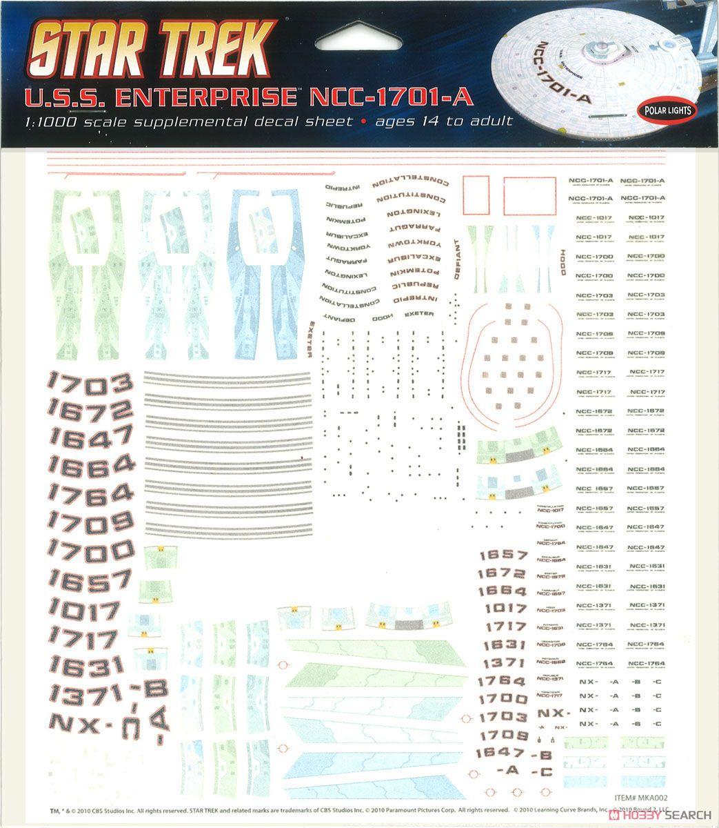 スタートレック 1/1000 U.S.S エンタープライズ NCC-1701A(改装型) デカール (プラモデル)