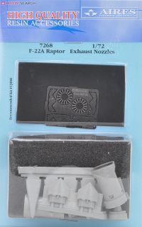 Aires 7268 Resin 1//72 Boeing F-22A Raptor exhaust nozzles Fujimi