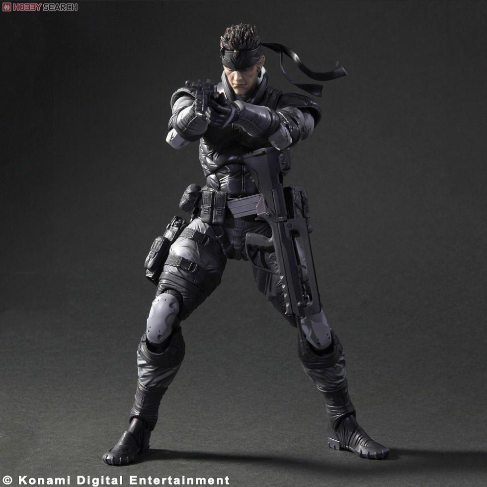 Metal Gear Solid Play Arts Kai Solid Snake Pvc Figure Item