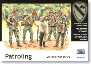 Patroling Vietnam War (5pcs) (Plastic model)