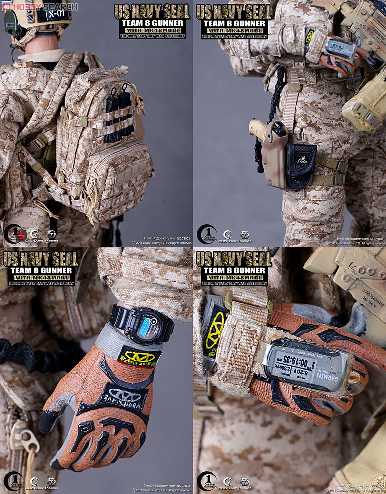 Crazy Dummy - 1/6 U S Modern Navy Seal Team 8 Gunner With