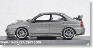 スバル インプレッサ S203 2005 (クリスタルグレイメタリック) (ミニカー)