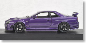 Nismo R34 GT-R Z-tune Midnight Purple III MIRAGE (ミニカー)