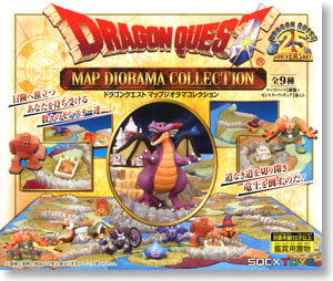dragon quest 25th anniversary map diorama collection 9 pieces pvc