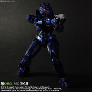 Halo:Combat Evolved Play Arts Kai Spartan Mark V Blue (PVC