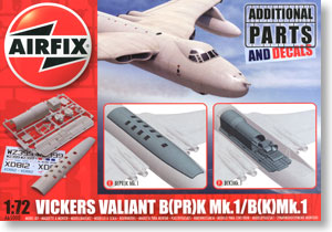 Vickers Valiant Photo-Reconnaissance and Refueller Parts (Plastic model)