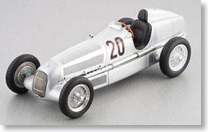 メルセデス・ベンツW25 1934 #20 (シルバー) (ミニカー)
