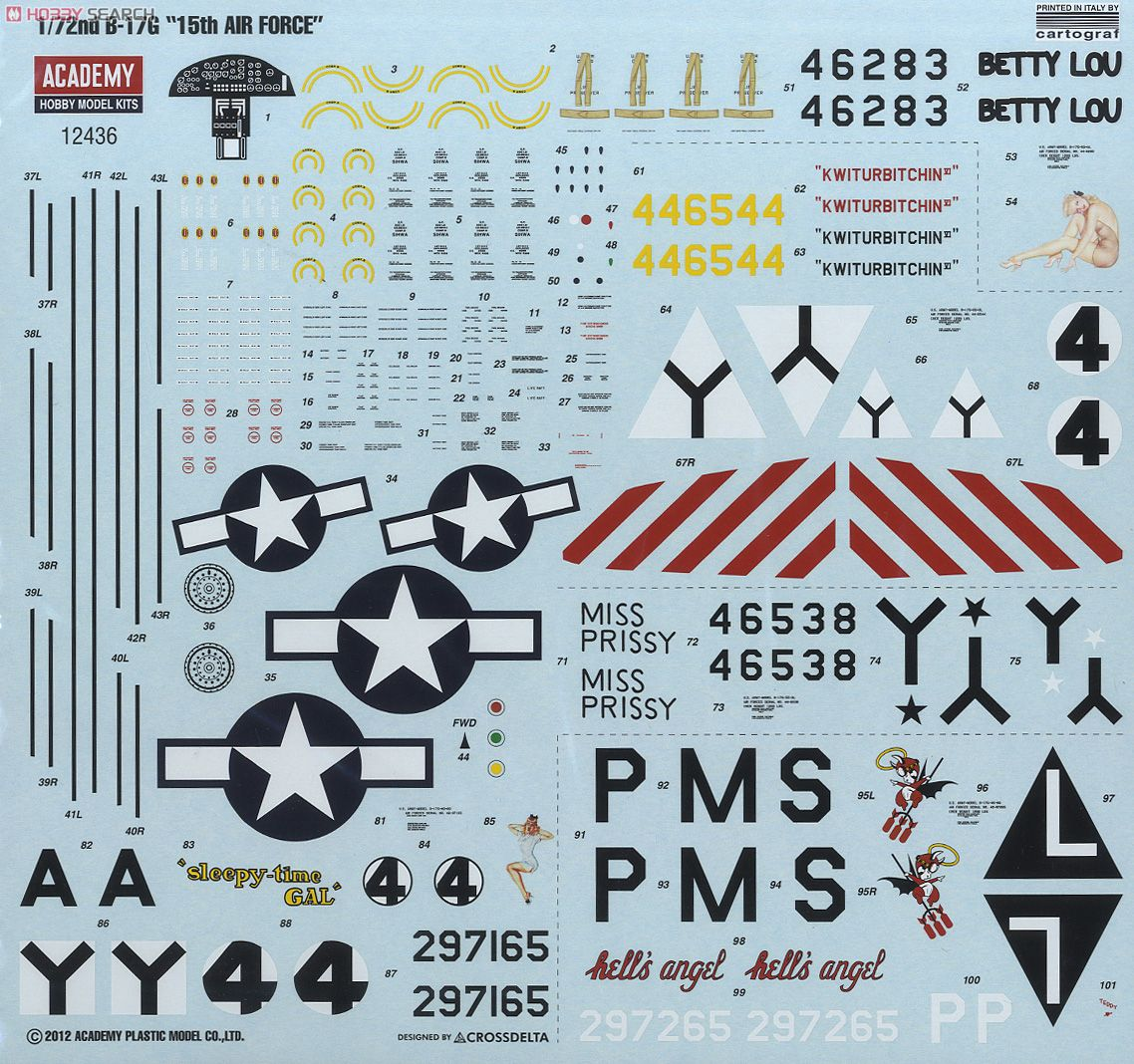 Boeing B-17 G Flying Fortress, 486th Group Bomber 1944 - Academy 1/72 10177694n4