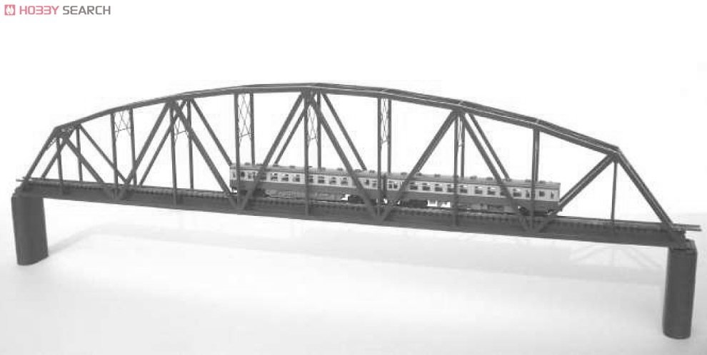 N Paper Structure Curved Chord Truss Bridge For N Gauge Red