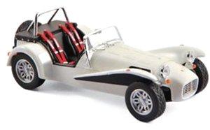 キャザーラム スーパーセブン 1979 オールドイングリッシュホワイト 右ハンドル仕様 (ミニカー)