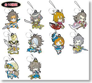 Mini Chara Samurai Warriors Trading Rubber Strap (Anime Toy)