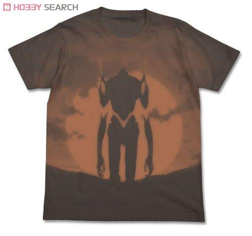 ヱヴァンゲリヲン新劇場版 エヴァ3号機Tシャツ CHARCOAL M (キャラクターグッズ)