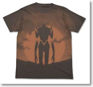 ヱヴァンゲリヲン新劇場版 エヴァ3号機Tシャツ CHARCOAL XL (キャラクターグッズ)
