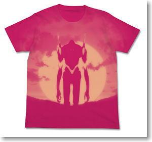 ヱヴァンゲリヲン新劇場版 エヴァ3号機Tシャツ TROPICAL PINK S (キャラクターグッズ)