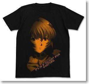 ヱヴァンゲリヲン新劇場版 綾波グラフィックTシャツ BLACK XL (キャラクターグッズ)