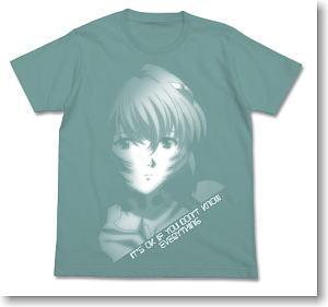 ヱヴァンゲリヲン新劇場版 綾波グラフィックTシャツ SAGE BLUE XL (キャラクターグッズ)
