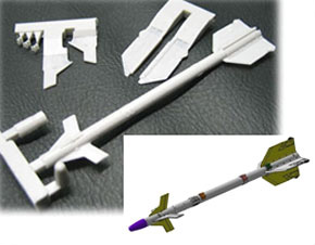 US Air Force AIM 9P Sidewinder Missile Set (Resin) (Plastic model)