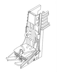 Lockheed C-2 Ejection seat for F-104 C/D/G/J a DJ (Plastic model)