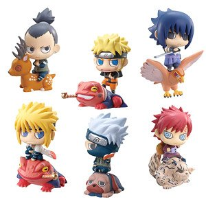 "Set 6 Piece Naruto Shippuden Petit Chara Land 2/"" Toy Figure Series 3"