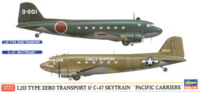 L2D Transport Aircraft & C-47 Sky Train `Pacific Carriers` (Plastic model)