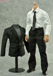 1//6 SUIT SET COAT SHIRT PANTS MALE//FEMALE FORMAL CLOTHING FOR HOT TOYS PHICEN