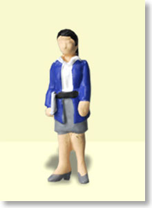 Ho Dolls OF-002 Office 2 (1figure) (Model Train)