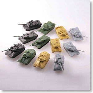 World Tank Museum Kit Actually-used tank Vol 1 12 pieces
