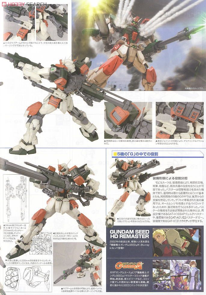GAT-X103 Buster Gundam (MG) (Gundam Model Kits) About item3