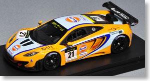 マクラーレン MP4-12C GT3 ガルフマリーン 2011 マカオGTカップ 3位 #21 (ミニカー)