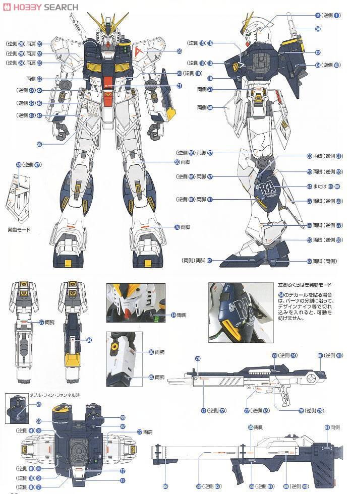 RX-93 Nu Gundam Ver.Ka (MG) (Gundam Model Kits) Color2