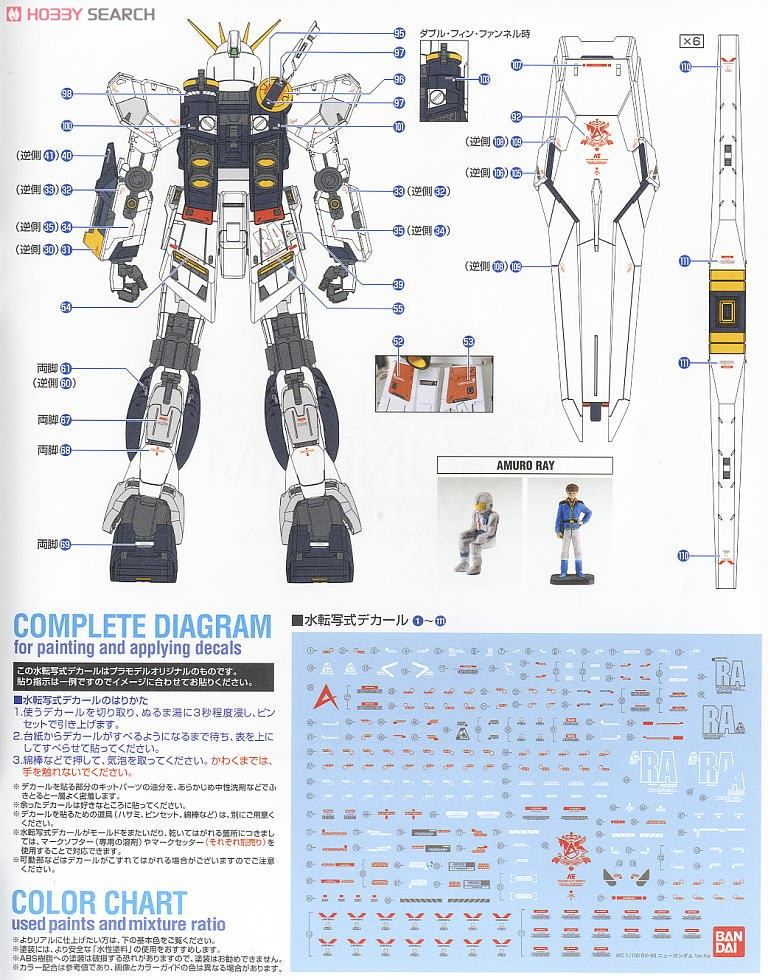 RX-93 Nu Gundam Ver.Ka (MG) (Gundam Model Kits) Color3