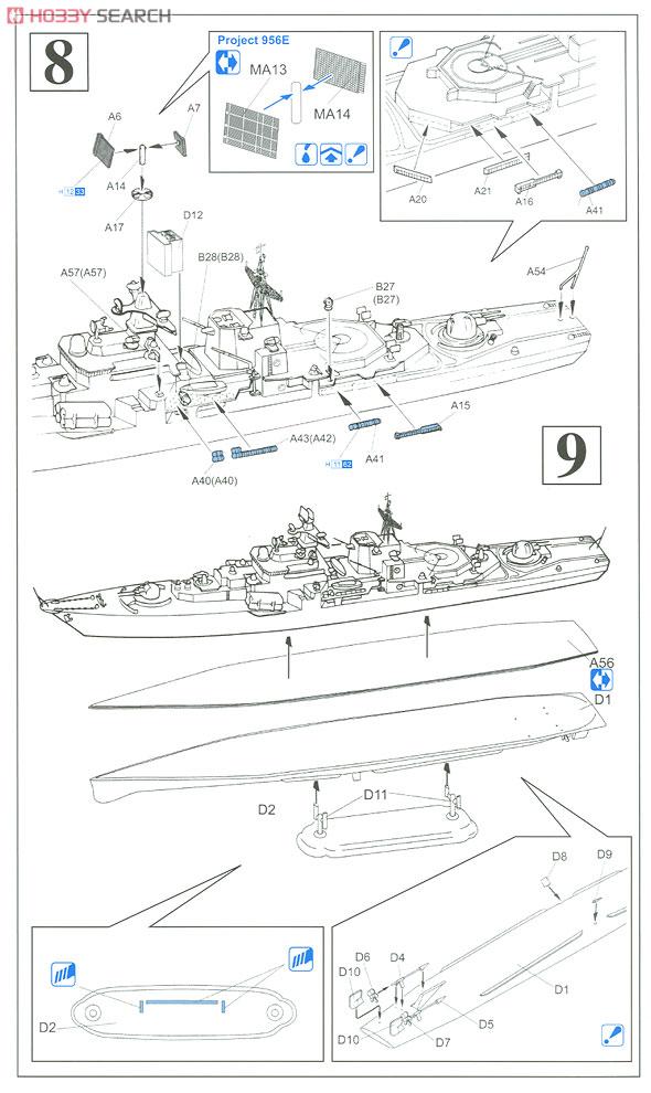 中華人民解放軍 海軍 ソヴレメンヌイ級駆逐艦 福州 (プラモデル)