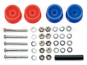GP457 Two stages Low Friction Plastic Roller (Red/Blue13-12mm) Set (Mini 4WD)