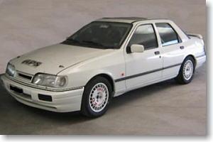 フォード・シエラ・コスワース 4x4 1991 ラリー仕様 (スクエアフロントライト) ホワイト (ミニカー)