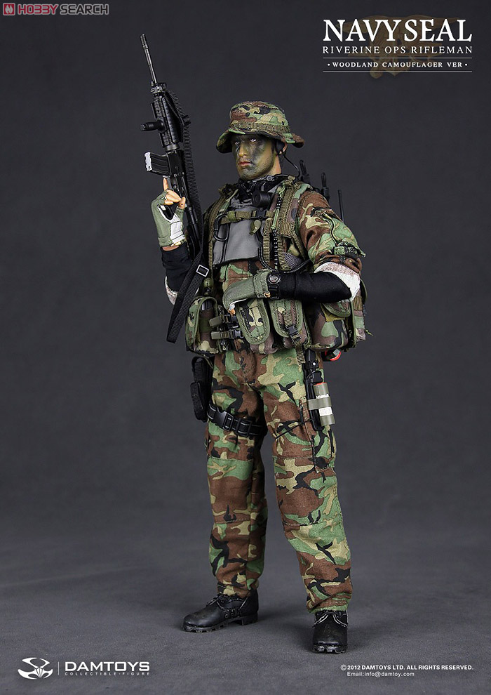 Dam Toy Modern US Navy SEALS Rifle Man  Woodland Camouflage   Fashion    Navy Seals Sniper Camo