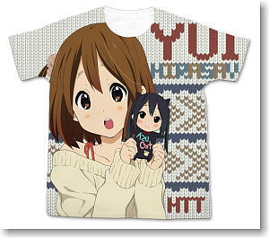 K-on! the Movie Hirasawa Yui Full Graphic T-shirt White L (Anime Toy)