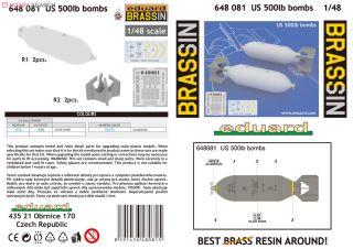 EDUARD BRASSIN 648081 US 500lb Bombs in 1:48