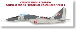 Polish Air Force MiG-29 `Heroes of Kosciuszko` Part 2 (Decal