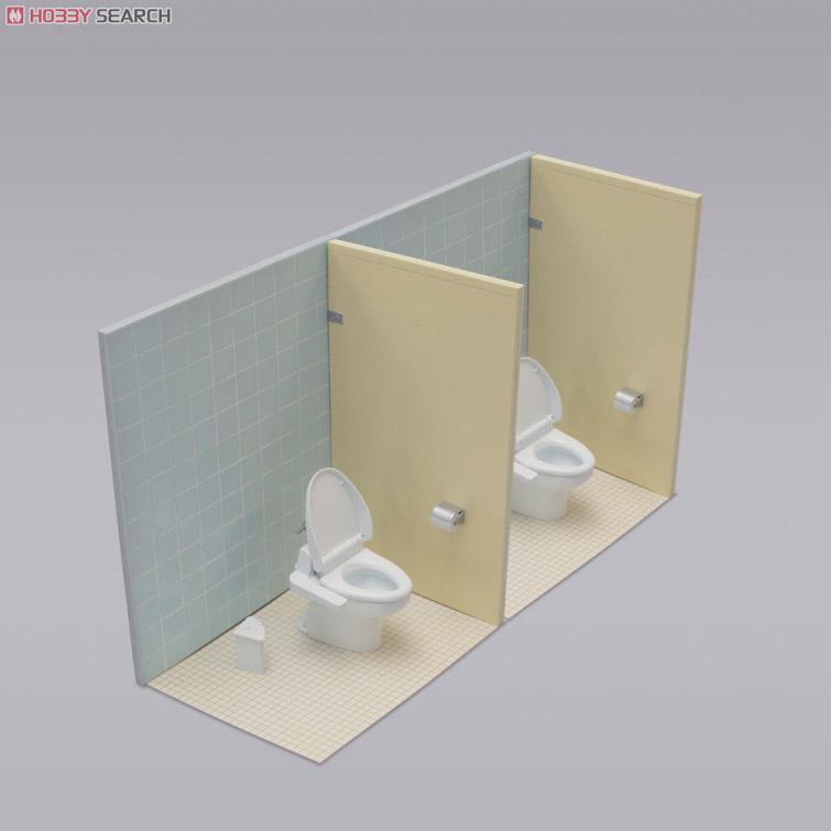 床は複数個購入して連結可能! 大きい駅や学校のトイレっぽくできますね!... ホビーサーチブログ