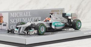 メルセデス AMG ペトロナス F1 チーム W03 M.シューマッハ ブラジルGP 2012 ラストレース (ミニカー)