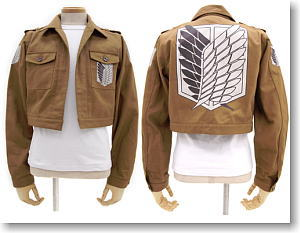 Attack on Titan Corps Jacket Short ver L (Anime Toy)