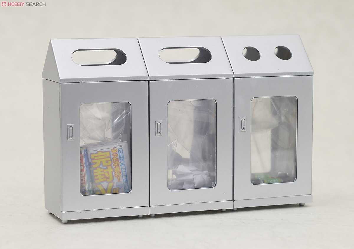 (1/12) EK-05 Trash can of the station (Stainless Color) (Model Train) Item picture4